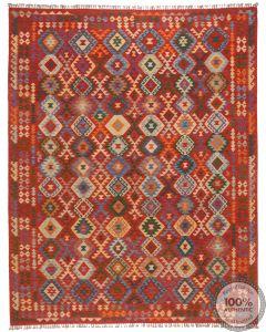 Shirvan Kilim rug - Red - 11'2 x 8'7