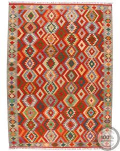 Shirvan Kilim rug - Red - 11'3 x 8'3
