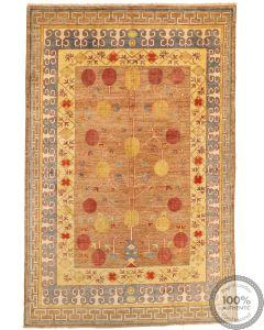 Khotan Samarkand Design Part Silk  - 9'8 x 6'5