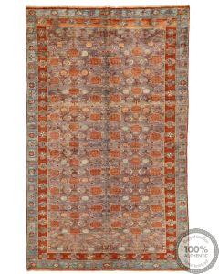 Khotan Samarkand Design Part Silk  - 10'6 x 6'3