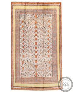 Khotan Samarkand Design Part Silk  - 9'2 x 5'3
