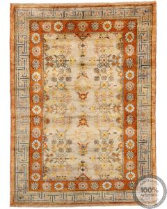 Khotan Samarkand Design Part Silk  - 6'3 x 4'4