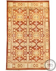 Khotan Samarkand Design Part Silk  - 10'3 x 6'5