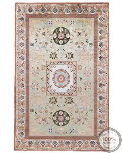 Khotan Samarkand Design Part Silk  - 10 x 6'5