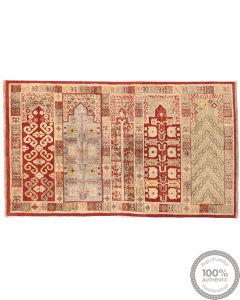 Khotan Saf Design Part Silk  - 6'7 x 3'8