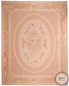 Aubusson rug floral design 15'44 x 12'03