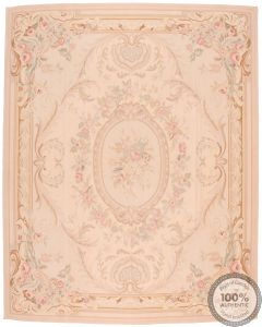 Aubusson rug floral design 35 - 10'3 x 7'8