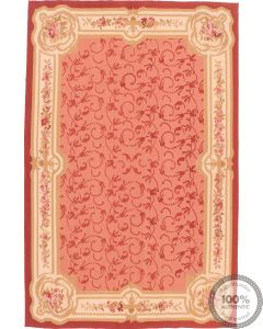 Pink Aubusson Design Rug 9 x 6