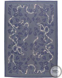 Blue Aubusson design - 7'8 x 5'5