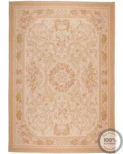 Aubusson rug floral design