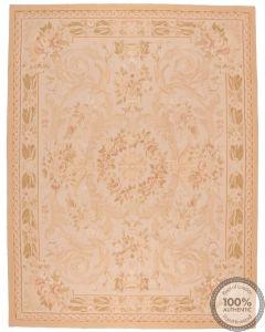 Aubusson rug floral design 10'2 x 7'9