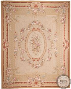 Aubusson rug floral design 15'44 x 12