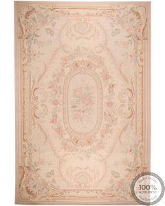 Aubusson rug floral design 18 x 12