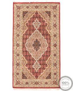 Persian Tabriz design Indian rug  - 5'4 x 2'9