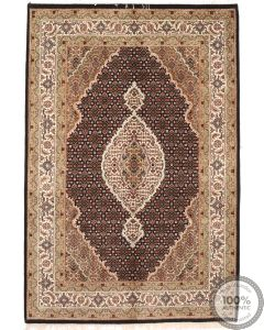 Persian Tabriz design Indian rug - 7' x 4'4