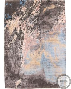 Modern part silk design 8'1 x 5'7
