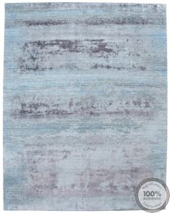 Modern rug with silk highlights - 10 x 7'9