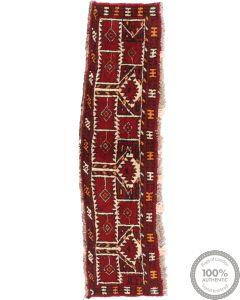 Afghan Turkaman Torba Runner - 4'7 x 1'1
