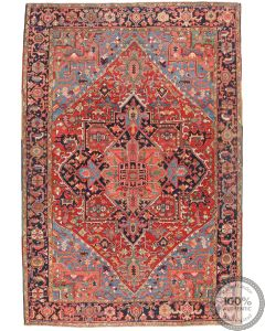 Persian Heriz Vintage Rug - 9'8 x 6'7