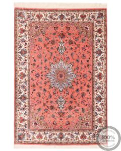 Qum silk signed by Abbasi - 5'1 x 3'5