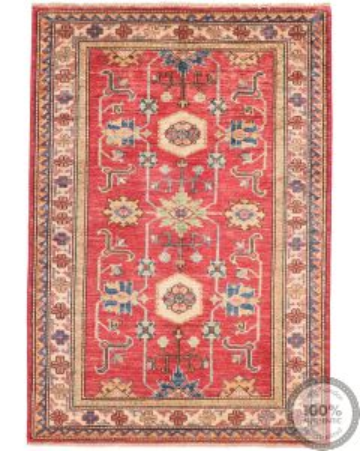 Caucasian Kazak design rug Red 4'6 x 3'3