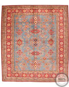 Caucasian Kazak design rug light blue 9'38 x 8'27