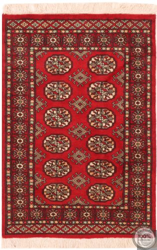 Bokhara design rug red