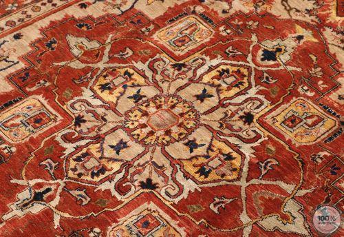 Heriz Design rug Part Silk