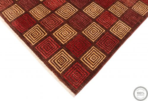 Modern Gabbeh with Square Design - angle