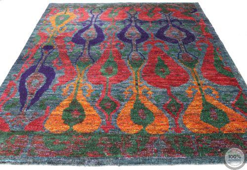 Sari Silk rug - 7'8 x 5'4