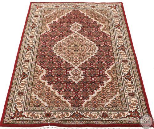 Tabriz Mahi Indian rug - Red/Beige/Brown Wool & Silk