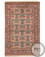 Persian Qum Floral Design - 4'7 x 3'1