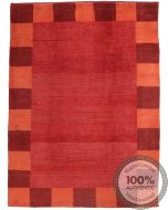 Modern Gabbeh Simple Design Red