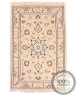 Nain 9La rug with silk highlights 3'1 x 2'