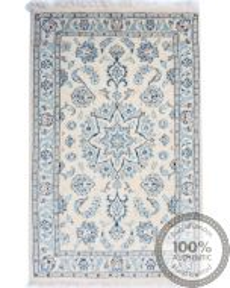 Nain 9La rug with silk highlights 3'15 x 1'97
