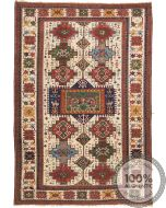Fine Shirvan Rug Beige & Mix Colour Motifs - front view