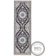 Nain 6La rug with silk highlights - 5'12 x 1'64