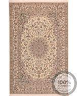 Persian Nain rug with silk higlights - 6'6 x 4'2
