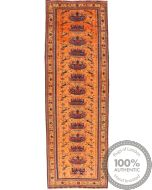 Kurdi Ghouchan rug runner yellow