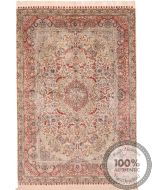 Chinese Persian design pure silk pile rug