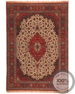 Persian Fine Isfahan rug on silk foundation