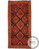 Nomadic Kashgai Qashgai rug - 9'4 x 4'5