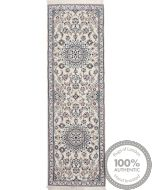 Persian Nain 6La rug with silk highlights