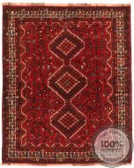 Persian nomadic Kashghai rug red