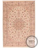 Persian Tabriz floral design rug beige