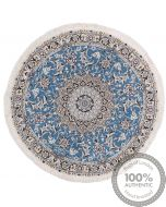 Nain 9La circular rug with silk highlights - 3'64 x 3'64