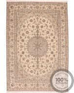 Persian Nain 6la rug with silk highlights - 11'7 x 8'