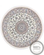 Nain 9La Circular rug with silk highlights - 4'92 x 4'92