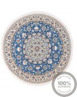 Nain Circular 9La rug with silk highlights - 3'94 x 3'94