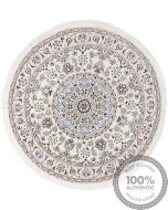 Nain 9La Circular rug with silk highlights - 3'77 x 3'77